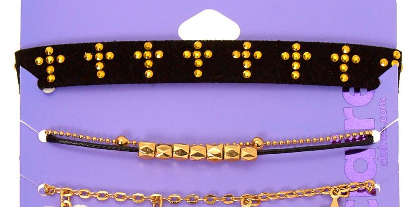Go to Product: Gold Spiritual Chain Bracelets - 4 Pack from Claires