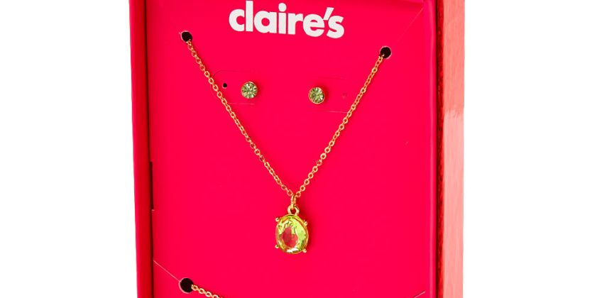 Go to Product: August Birthstone Jewellery Gift Set - Peridot, 3 Pack from Claires