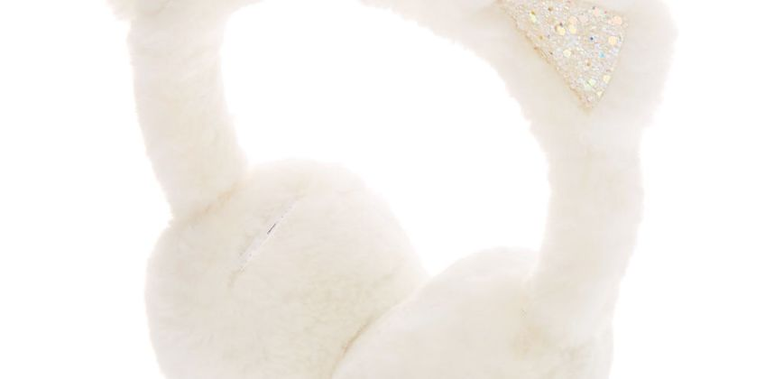 Go to Product: Glitter Cat Soft Ear Muffs - White from Claires