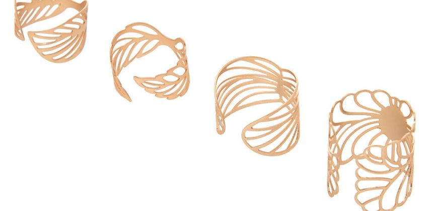 Go to Product: Gold Filigree Rings - 4 Pack from Claires