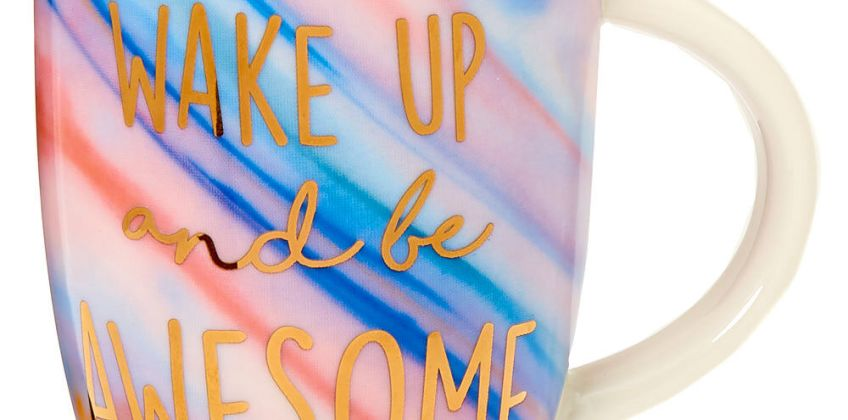 Go to Product: Wake Up And Be Awesome Marble Ceramic Mug from Claires