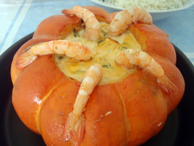 Imagem de destaque do post Dica de receita low carb camarão na moranga
