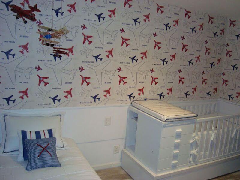 quarto de bebe papel de parede