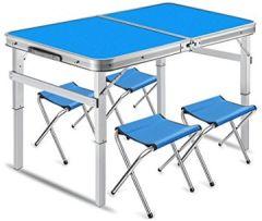 Klapptisch Campingtisch klappbarer Bestelltisch faltbarer - 90cm x 60cm(L & W) Beistelltisch Picknicktisch Alutisch und höhenverstellbar Farbe