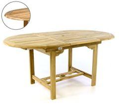 Runder Gartentisch Ausziehbar.160 210 90 75 Cm Fsc Eukalyptusholz Hartholz Sheffield