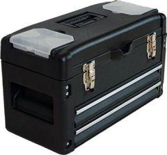 METALL Werkzeugkiste Werkzeugbox Werkzeugkasten Serie 3061 von AS-S, Farbe:Schwarz+2L