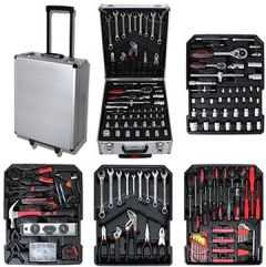 Werkzeugkasten, DIY-Set Größe: 50 37 23 cm Material: Kohlenstoffstahl 251 Tools, mit Aluminumkoffer and Teleskopgriff