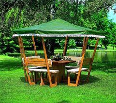 ROSENHEIM Gartenlaube Holzpavillon 304x304cm wahlweise mit weißem oder grünen Dach