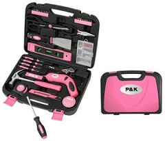 Teilig Werkzeugset Werkzeugkoffer Werkzeugkasten Pink Rosa