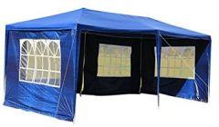 6 3m Festzelte Gartenzelt Bierzelt Partyzelt Festpavillon inklusive Seitenwände, Fenster, Wasserdicht PE Plane Camping Vereinszelt