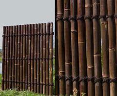 """Apas2"""" schwarz- braun, ganze Bambusrohre, 150 x 120cm von bambus-discount Sichtschutzzäune Gartensichtschutz Balkonsichtschutz Winschutz Terasse Blichschutz --> großes Sortiment Sichtschutz, Bambus, Schilf Naturprodukte"""