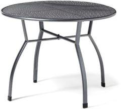 Gartentisch Toulouse rund, Ø ca.100 cm, pflegeleichter kunststoffummanteltem Stahl, Esstisch mit Niveauregulierung, eisengrau, 72