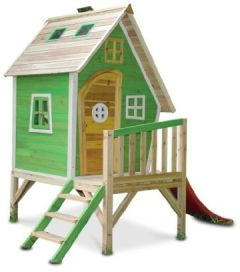 MAYA - Stelzenhaus Holz mit Rutsche