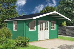 Gartenhaus SAUERLAND D70 Blockhaus Holzhaus x cm - mm Ferienhaus
