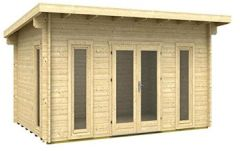 Gartenhaus Oklahoma ISO Blockhaus Holzhaus 470 x 320 cm - mm Ferienhaus