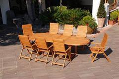 """Garten-Tisch """"Texas"""", oval, ausziehbar, Holz"""