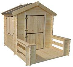 Kinder-Spielhaus Play Park, Maße: 1,75 x 1,30 m, 19mm Blockbohlen