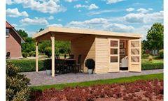 Gartenhaus Arnis 5, BxT: 302 246 cm, mit Schleppdach (ca. 220 breit) Natur