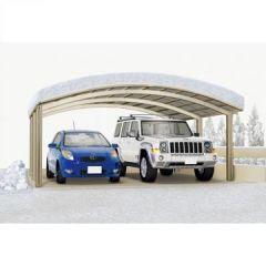 Carport Alu Portoforte 170 Edelstahl-Look M-Ausführung