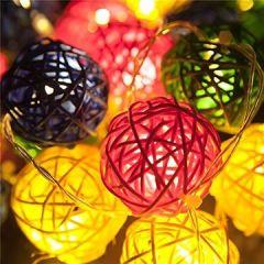 Outdoor 4.8 Meter 20 LEDs Lampions Laterne Solarbetrieben Wasserfest Dekoration für Garten, Terrasse, Hof, Haus, Weihnachtsbaum, Feiern