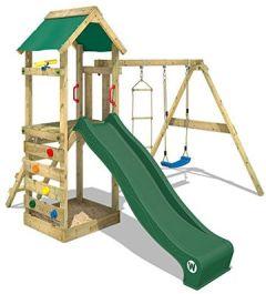 Spielturm FreeFlyer Kletterturm mit Rutsche Schaukel Kletterwand