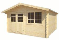 Gartenhaus Saale Gerätehaus Blockhaus ca. x cm 34 mm doppelte Nut+Feder