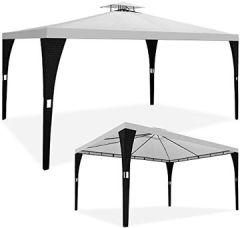 3x3m 3x4m Polyrattan Festzelt Partyzelt Gartenzelt Gartenpavillon Sonnendach Modellauswahl