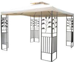 Gartenpavillon 3x3m Toscana Pavillion beige