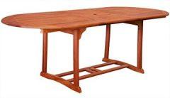 ausziehbarer Gartentisch 180-230*100 cm Eukalyptusholz (#101161