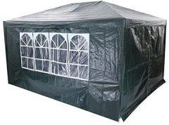 Faltpavillon 3 x 4 Faltbar Partyzelt, Wasserdichte Gartenzelt, Festzelt Campingzelt Dunkelgrün