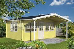 Gartenhaus GORBEA ISO 500x400cm 70mm Holzhaus