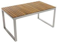 Gartentisch Naxos ausziehbar Akazienholz, Aluminium B150 T90 H74 cm