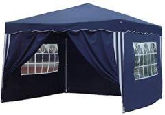 Falt Pavillon Dachmaß x blau mit 4 Seitenteilen