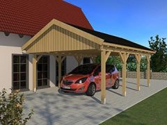 Carport (Satteldach) NÜRBURG V 500cm x 600cm, Bausatz