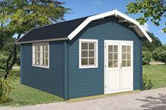Gartenhaus Kansas ISO 370x445cm 40mm Holzhaus