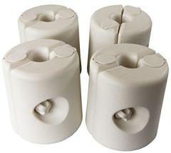 Pavillon Standfuß 4-er Set weiß/grün schwarz Standfuss Standfüße Standsicherung Gewichte Halterung Festzelt Bierzelt (Weiß