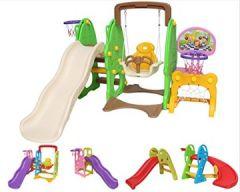 Clarmaro Adventure Rutsche Spielplatz, Indoor Outdoor Kinderspielplatz mit abgerundeten Ecken Kanten, Extra breite Standbeine Stufen