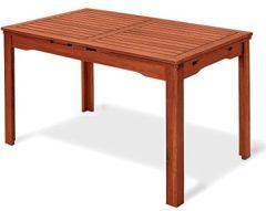 rechteckig natur 77x 200x 70cm, Mod.THUJA. Gartentisch Handarbeit, Tisch-Hartholz Außenbereich, ausziehbar 2Meter