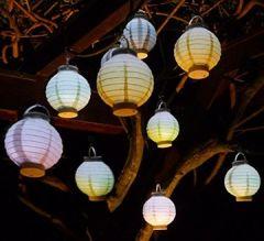 10-STÜCK LED Party Lampion ø 15cm 5-Pastell-Farben Wunderschön