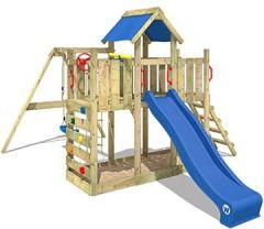 TwinFlyer Spielturm Kletterturm mit Schaukel, Rutsche, Sandkasten + Zubehör-Komplettset
