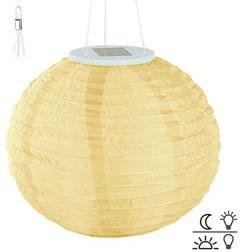 Solarlampen: Solar-LED-Lampion mit Dämmerungs-Sensor, IP44, warmweiß, 30 cm Ø (Solarlampions