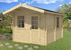 Gartenhaus Sauna JOONAS ISO 300x400cm 70mm Holzhaus