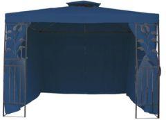 4 Seitenteile für Metall Pavillon blau