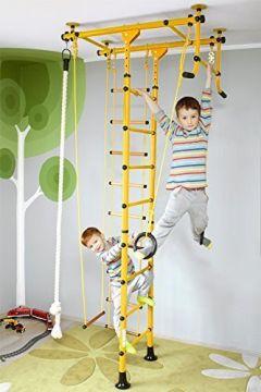 NiroSport FitTop M1 Indoor Klettergerät für Kinder Sprossenwand Klettergerüst Kletterwand