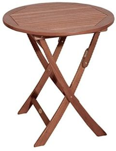 """Gartentisch """"Steward"""" rund klappbar aus geöltem Eukalyptus Ø70 cm Holztisch Kaffeetisch"""