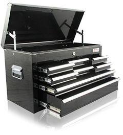 Werkzeugkasten mit 9 Schubladen und 1 Deckelfach - Schwarz