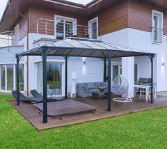 Aluminium Überdachung Gazebo Martinique 492x359 cm//Sommer-Pavillon und Gartenpavillon mit 6mm Doppelstegplatten