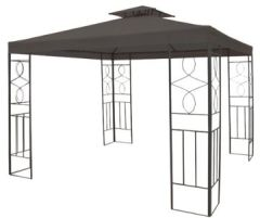 Metall Garten Pavillon 3x3