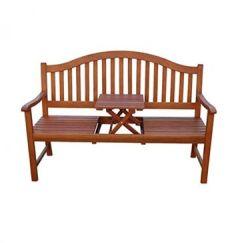 Gartenbank Sitzbank Holzbank mit Tisch Neu