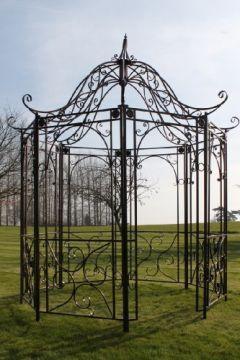 Garten-Pavillon im Versailles-Stil, Metall, antiker Bronzeausführung